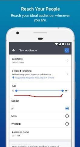 реклама приложения +в фейсбук