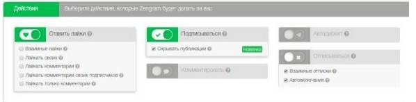 Работа сервиса на примере Zengram