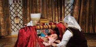 Обряд «Бесік тойы» (Укладывание ребенка в колыбель)